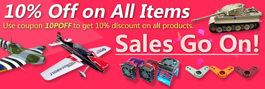 10% Discount on All RC Items