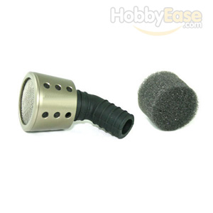Titanium Color Aluminum 1/10 Air Filter(Taper)