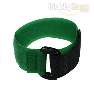 Green Hook and Loop Velcro Tie - 200mm