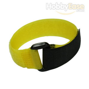 Yellow Hook and Loop Velcro Tie - 200mm