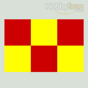 50*50mm Red-yellow Squares Covering Film -638*1000mm