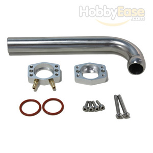 Stainless Steel 26CC Gas Engine 80°-110°Adjustable Exhaust Manifold