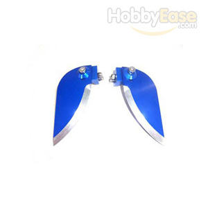 Blue Aluminum Adjustable Turn Fin for Boats(2PCS)-24*54mm