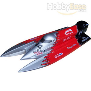 F1 Power Boat 670EP(Silver, Red, Black)