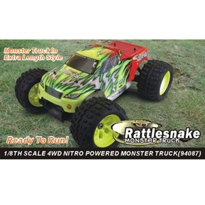 HSP(HISPEED) Rattlesnake 1/8th scale GP monster truck