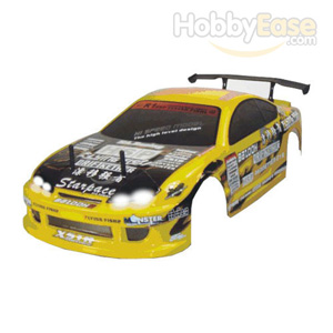 Yellow 1/10 On-road Car Body