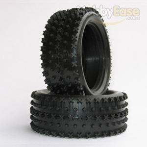 X Dot Spike Tires 1 Pair(1/10 Buggy,Front)