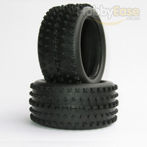X Dot Spike Tires 1 Pair(1/10 Buggy,Rear)