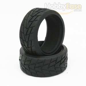 Arrowhead-groove Tires 1 pair(1/10 Car)