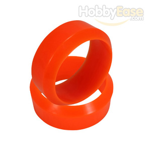 Orange 3 Degree Drift Tires 1 pair(1/10 Car)