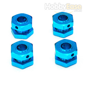 MP7.5 Blue Aluminum Drive Adaptors with Wheel Stopper Nuts