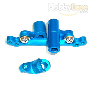 Mini Inferno Blue Aluminum Steering Assembly