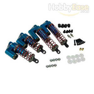 DF-03 Blue Aluminum Shock Absorbers w/Piggy Back(1 Set)