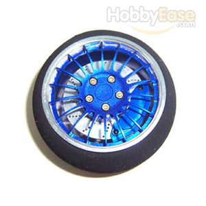 Blue Aluminum Pistol Transmitter Steering Wheel[18 spoke]
