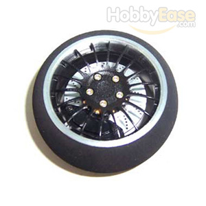 Black Aluminum Pistol Transmitter Steering Wheel[18 spoke]