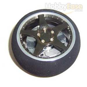Titanium Color Aluminum Pistol Transmitter Steering Wheel[5-spoke]