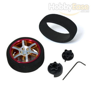 Golden Aluminum Pistol Transmitter Steering Wheel[6 dual spoke]