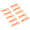 Orange Small-ring Body Clips 10PCS