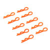 Orange 20° Small-ring Boby Clips 10PCS