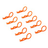 Orange 45° Medium-ring Body Clips 10PCS