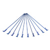 Navy-blue Bent Small-ring Long Body Clips 10PCS
