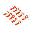Orange Mini Small-ring Body Clips 10PCS
