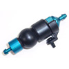 Blue Aluminum 1/8 Fuel Filter w/ Rubber Pump