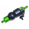 Green Aluminum 1/8 Fuel Filter w/ Rubber Pump