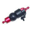 Red Aluminum 1/8 Fuel Filter w/ Rubber Pump