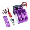 Purple Aluminum Motor Heat Sink w/ adjustable fan (side) [52515P]
