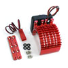 Red Aluminum Motor Heat Sink w/ adjustable fan (side) [52515R]