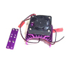 Purple Aluminum Motor Heat Sink w/ adjustable fan (top)