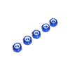 Blue Aluminum 4mm Lock Nut