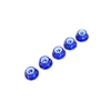 Blue Aluminum 3mm Flanged Lock Nut