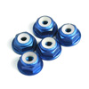 Blue Aluminum 4mm Flanged Lock Nut