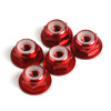 Red Aluminum 4mm Flanged Lock Nut