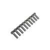 M4*12 Stainless Steel Flat Head Hex Screws(10pcs)