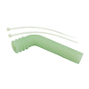 Green 1/8 Silicone exhaust pipe deflector [51883G]