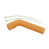 Orange 1/8 Silicone exhaust pipe deflector