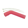 Red 1/8 Silicone exhaust pipe deflector