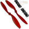 Red Nylon 8045(8.0*4.5) Standard + Reverse Electirc Propellers 1pair