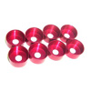 Red Aluminum Engine Mounting Rubber Reinforced Cap(8PCS)