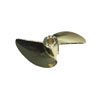 Imitation Gold Plated Aluminum Two-blade Propeller[Ø3/16]-435(D45*P1.4)