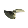 Imitation Gold Plated Aluminum Two-blade Propeller[Ø3/16]-435(D54*P1.4)