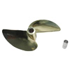 Imitation Gold Plated Aluminum Two-blade Propeller[Ø5mm]-478(D78*P1.4) [664782AG]