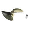 Imitation Gold Plated Aluminum Two-blade Propeller w/ 5mm Converter-570(D70*P1.5)
