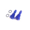 Blue Aluminum Water Outlet-Small(2pcs)