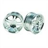 Silver 5 Dual-spoke Aluminum Wheels 1 pair(1/10 Car)