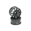 Titanium Color 10 dual-spoke Painted Wheels 1 pair(1/10 Car)