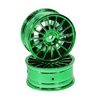 Green 15-spoke Painted Wheels 1 pair(1/10 Car)